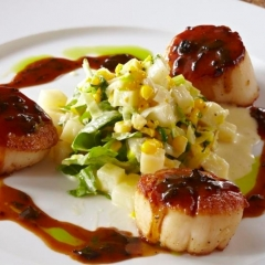 Seared Main Scallops