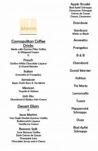 DESERT MENU PAGE 2 COFFEE DRINKS JANUARY 2012