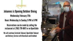 Johannes Outdoor Dining